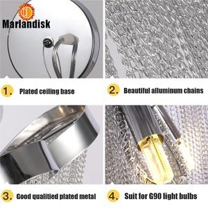 Image 2 - Modern Aluminum Pendant Lamp Luxury Aluminum Chains E14 Base Indoor Hanging Light For Bar Dining Room Living Room Bedroom(DQ 50)
