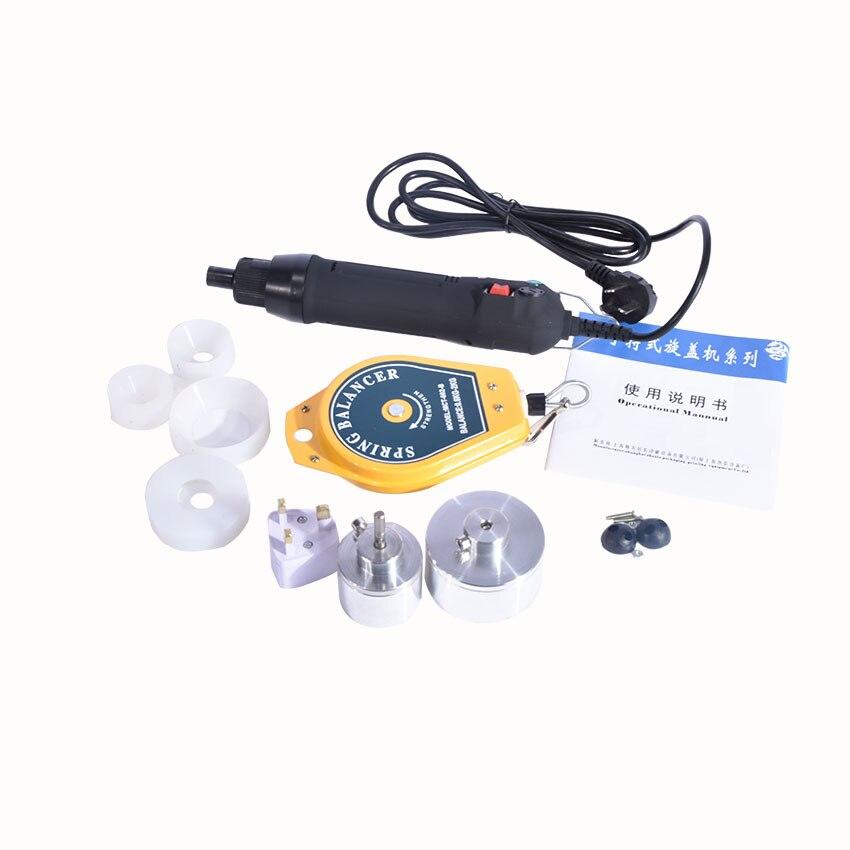 Bottle Capping Machine Handheld Manual Electric Bottle Capping Machine 220V for 10-50 mm SF-1550 1PC