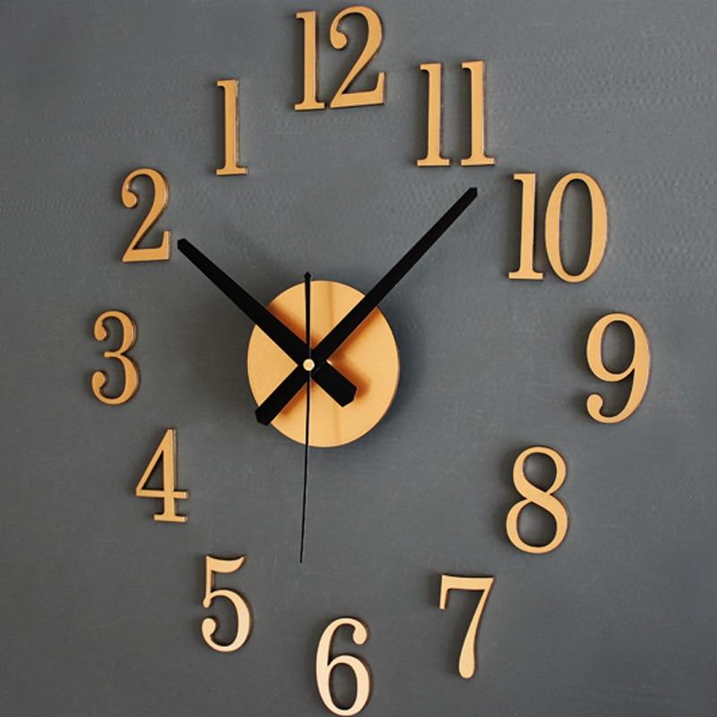 Grande 3D DIY Reloj de Pared Moderno Sin Marco espejo Relojes de ...