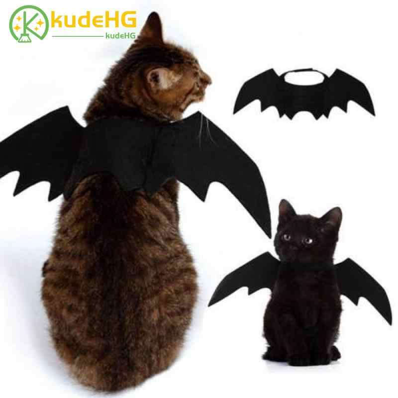 2019 Novas Asas de Morcego Vampiro Halloween Trajes Do Cão de Estimação Bonito Preto Fancy Dress Up Halloween Cat Dog Pet Costume 23