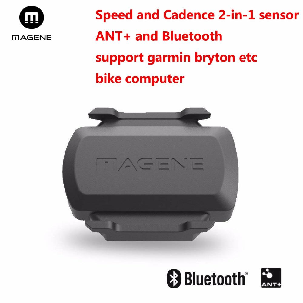 Bluetooth 4.0 ANT Speed Cadence Sensor for Garmin Bryton Bicycle Bike Computer