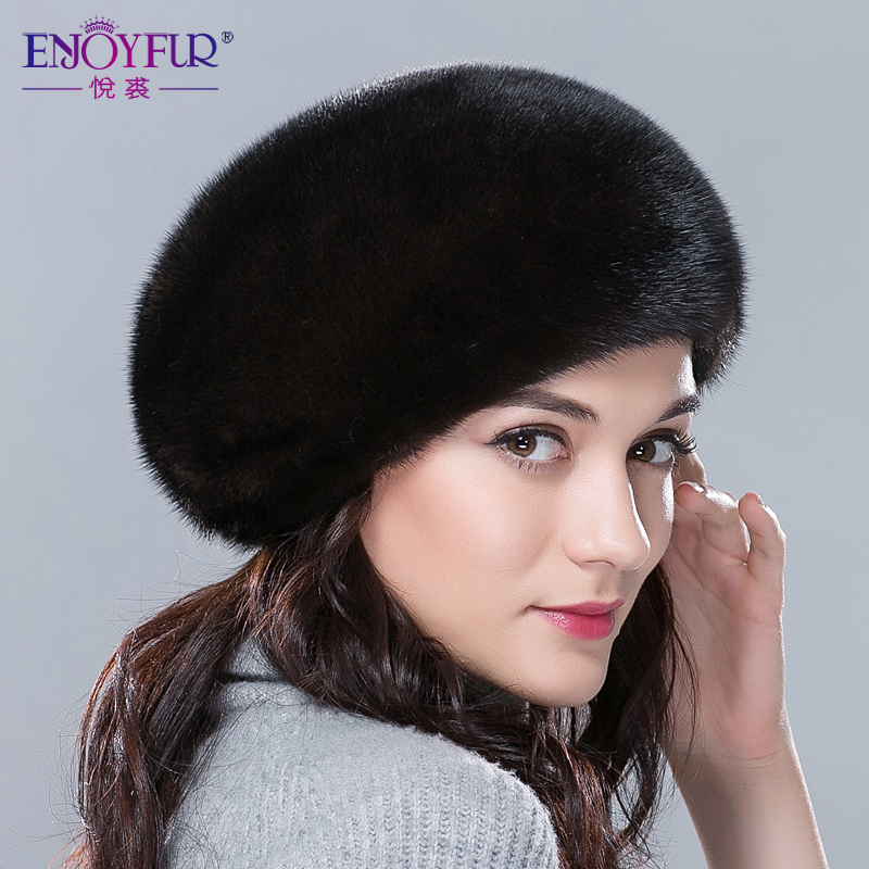 Fur hats for winter women whole real mink fur hat with diamond floral pattern 2017 luxury fashion women fur berets good quality