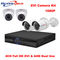 4CH DVR Kit 1080P XVR CCTV System 2 Mp 4 Channel AHD Home Security System Dome