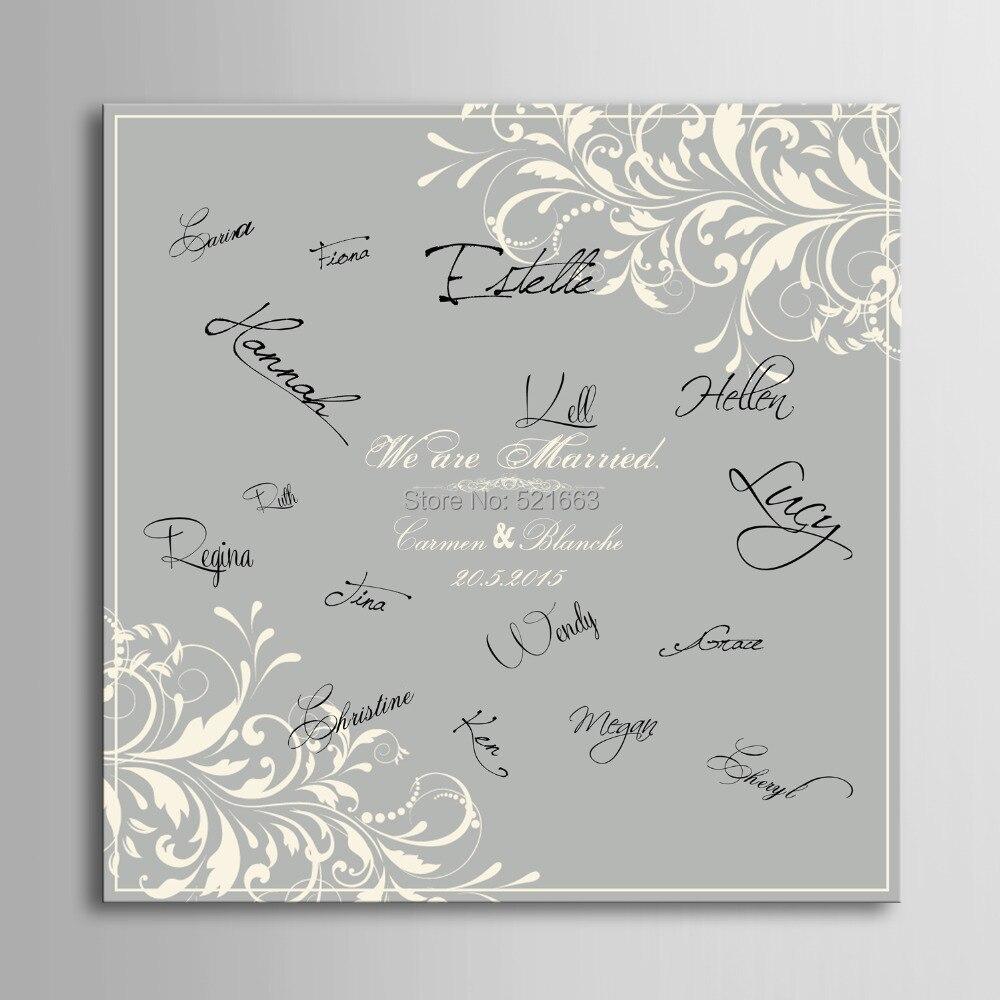 ᓂInvitado firma Partido de regalo de la boda Junta pintura-patrón ...