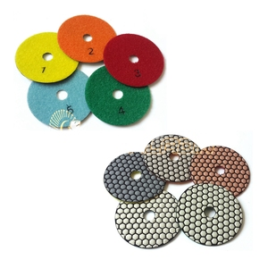 """Image 2 - 5 ชิ้น + M14 4 """"Premium Qulity เพชรรอบยืดหยุ่นแผ่นขัดแห้งบดแผ่นสำหรับหินอ่อนแก้วบด"""