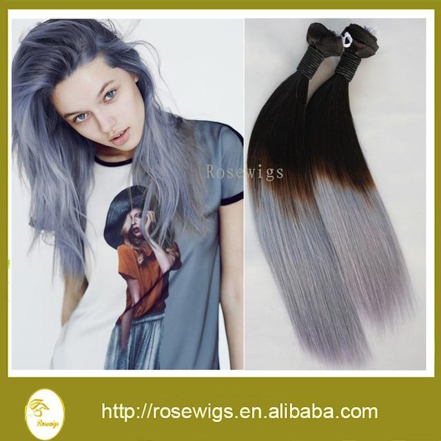 Grade 7a Filipino Ombre Virgin Hair 1bgrey Two Tone Color Ombre