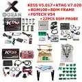 Kess 2.53 V5.017 KTAG 7.020 OBD2 Manager Tuning Kit Ktag BDM100 ECU Programmer FGTECH Galletto V54 bdm frame with 22PCS adapter