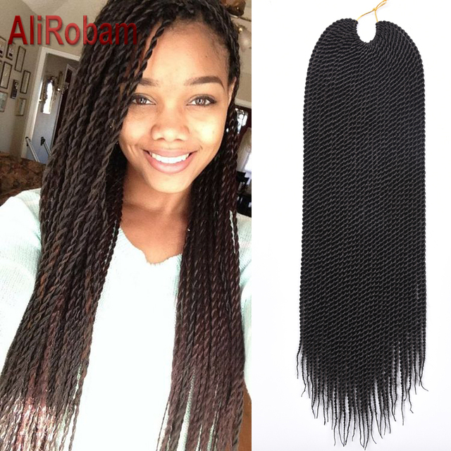 Crochetids 30 Strands Pack  20 22 Inch Small Ombre Senegalese Twist Syntheticiding Hair Extensions For Africans
