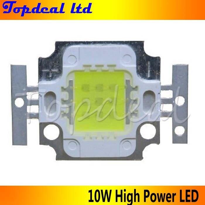 10 шт./лот 10 Вт высокое Мощность светодиодный излучатель 1000lm теплый белый Цвет 3000-3500 К dc9-11v 1050ma свет прожектор источник