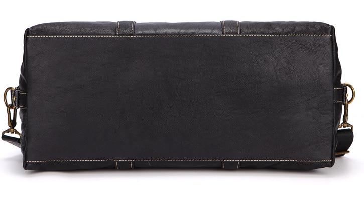 Bolso de viaje de cuero genuino de estilo Simple para hombre, bolso de hombro de cuero de vaca, bolso de cadena para equipaje Masculino, bolso de noche D416 - 6