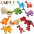 UMEILE Duplo Mundo Jurássico Dinossauro Conjunto de Partículas Grandes Blocos de Construção de Brinquedos Do Bebê Animal Tijolo Compatível com Legoe Duplo Presente