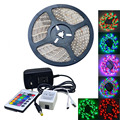 Waterproof 35W 300-5050 SMD RGB LED Light Strip w/ Remote control  (AC 110-240V / EU Plug)