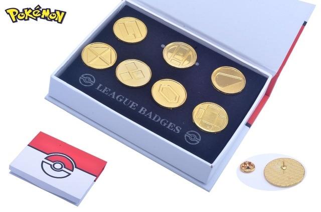 Pokemon Go Battle Frontier Symbols Set Badges Set Of 7 Metal Pins