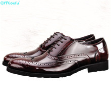 Genuine Leather Formal Brogues Men Oxford Shoes High Quality Italian Handmade Luxury Designers Dress