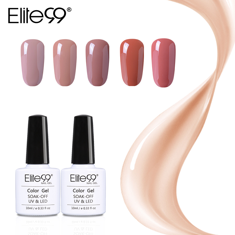 Elite99 Gel Polish Barniz UV LED magnífico color nude Serie UV Gel LED Lámpara Nail Art Design Venta caliente Nail Gel Laca