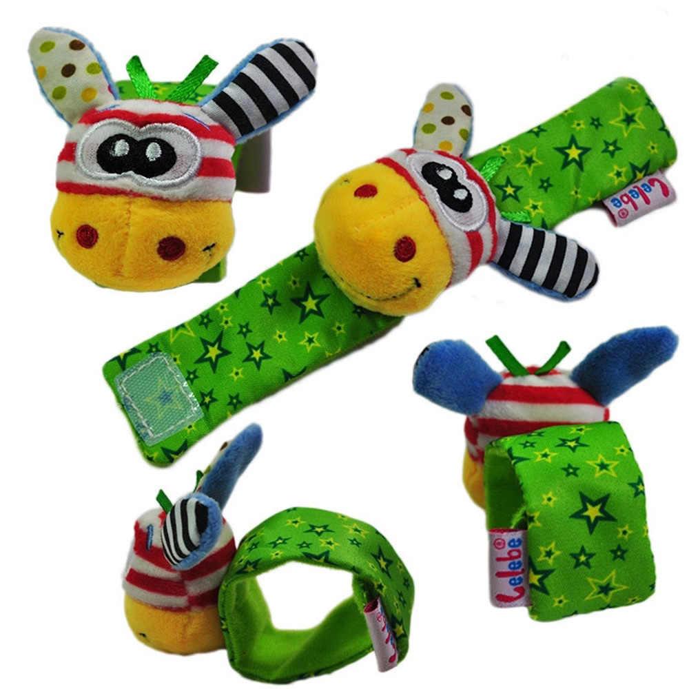 新しいソフト漫画動物幼児のおもちゃ子供幼児新生児ぬいぐるみ手首ガラガラのおもちゃの手の手首のストラップ