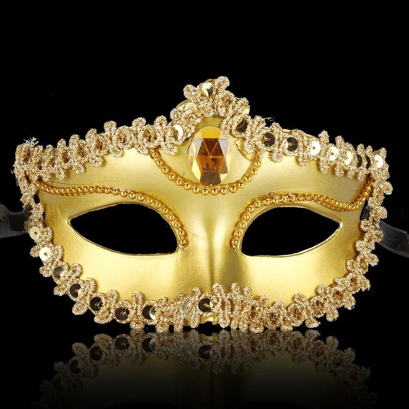 3PCS Plating Dance Mask Partei Halloweeni jõulud Pulmakaunistused - Pühad ja peod - Foto 2