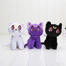 3pcs set Anime Sailor Moon Lunar Artemis Diana Cat plush doll font b toy b font