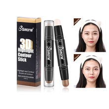 Double-end Contour Stick Women Highlighter Face Concealer Contouring Bronzers Highlighters Pen Cosmetic Makeup Corrector Contour rorec bronzers
