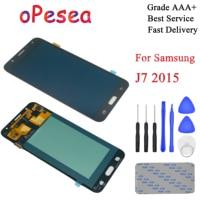 oPesea AMOLED For Samsung Galaxy J7 2015 J700 J700F J700H J700M LCD Display Panel Touch Screen Digitizer Glass Sensor Assembly