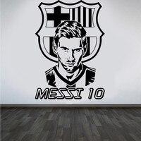 Yeni varış futbol takımı logosu Duvar Art Sticker Messi vinil duvar sticker Boys Odası çıkarılabilir ev dekor Için Futbol Yıldızı çıkartması