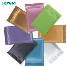 20pcs 7x10cm(2.8*3.9inch) Aluminum Foil Colored Zip lock Bags,Small Plastic Pouch Bags,Food Storage Bags With Zipper