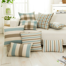 Simple Morden Elegant Plaid And Strips Designer Sofa Cushion Decorative Hotel Show Wholesale Price Discount Dorpship