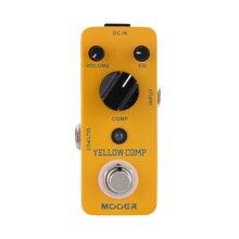 Mooer желтый Comp микро мини оптический компрессор педаль эффектов для электрогитары истинный Bypass