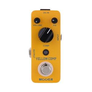 Image 1 - Mooer yellow comp マイクロミニ光学コンプレッサー効果ペダルエレキギター用トゥルーバイパス