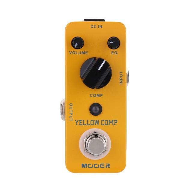 Mooer yellow comp マイクロミニ光学コンプレッサー効果ペダルエレキギター用トゥルーバイパス