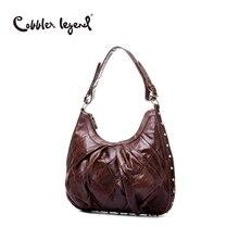 Cobbler legend mensajero del hombro de cuero de vaca bolso de cuero de las mujeres bolsos de las señoras bolso de mano de mujer de moda de lujo bolsos de diseño