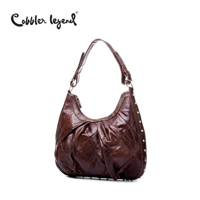 Cobbler legend couro de vaca saco do mensageiro do ombro bolsas de couro das mulheres saco de mão das senhoras do sexo feminino moda bolsas de grife de luxo