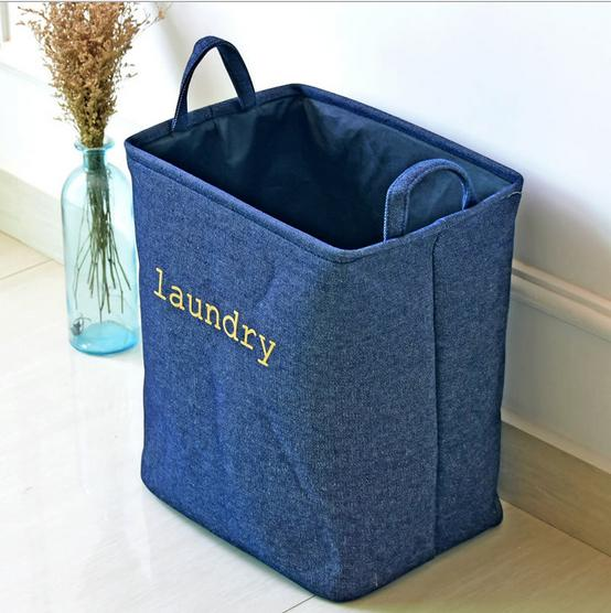 good quality handbag,baby kids Toy Clothes Thicken Canvas Laundry basket storage bag With Handles For Room Decor 0739