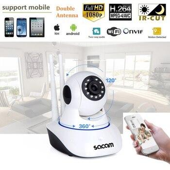 SACAM 2MP 1080P IP Camera Full HD P2P WiFi Wireless Pan Tilt Onvif Home Security Network Web Cam Night Vision 2-way Audio Remote 2