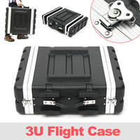 57x49x17.5cm 19 inch anti shock waterproof hard plastic 3U flight Case With removable front and rear cover