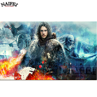 3D Diamond Painting Cross Stitch Game And Thrones Movie Stars DIY Square 5d Diamond Embroidery Home