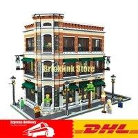 2017 New LEPIN 15017 4616Pcs Starbucks Bookstore Cafe Model Building Kits Blocks Bricks Compatible Toys Gift
