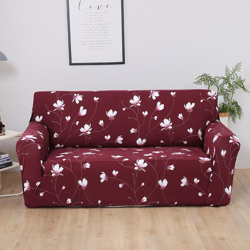US $14.22 52% OFF|Bird Printed Sofa cover Spandex Red Sofa Covers for  living room Protector Sofa cubre sofa Sectional Couch covers 1/2/3/4  seater-in ...