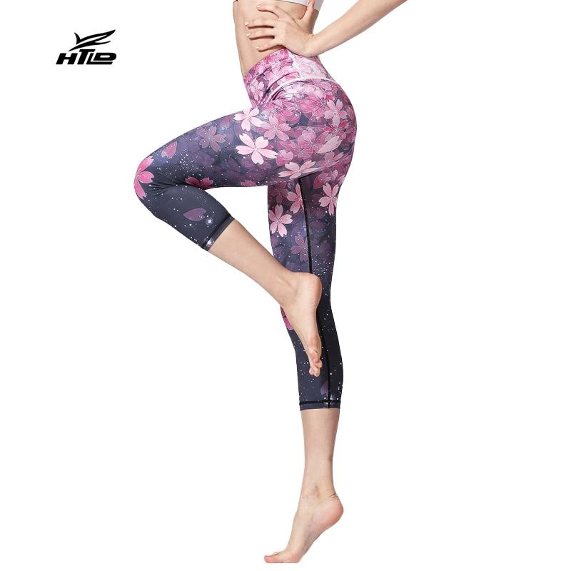 Elastic Fitness   Capri     Pants   Women High Waist 3/4 Leggings Quick Dry Joggers Calf-Length   Pants   Workout Sweatpants Pantalon femme