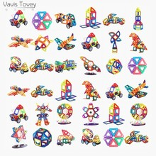 Vavis Tovey Diy 103PCS Mini Magnetic Building Blocks kits free sticker Magnet Designer Construction Toys Kids brinquedos gifts