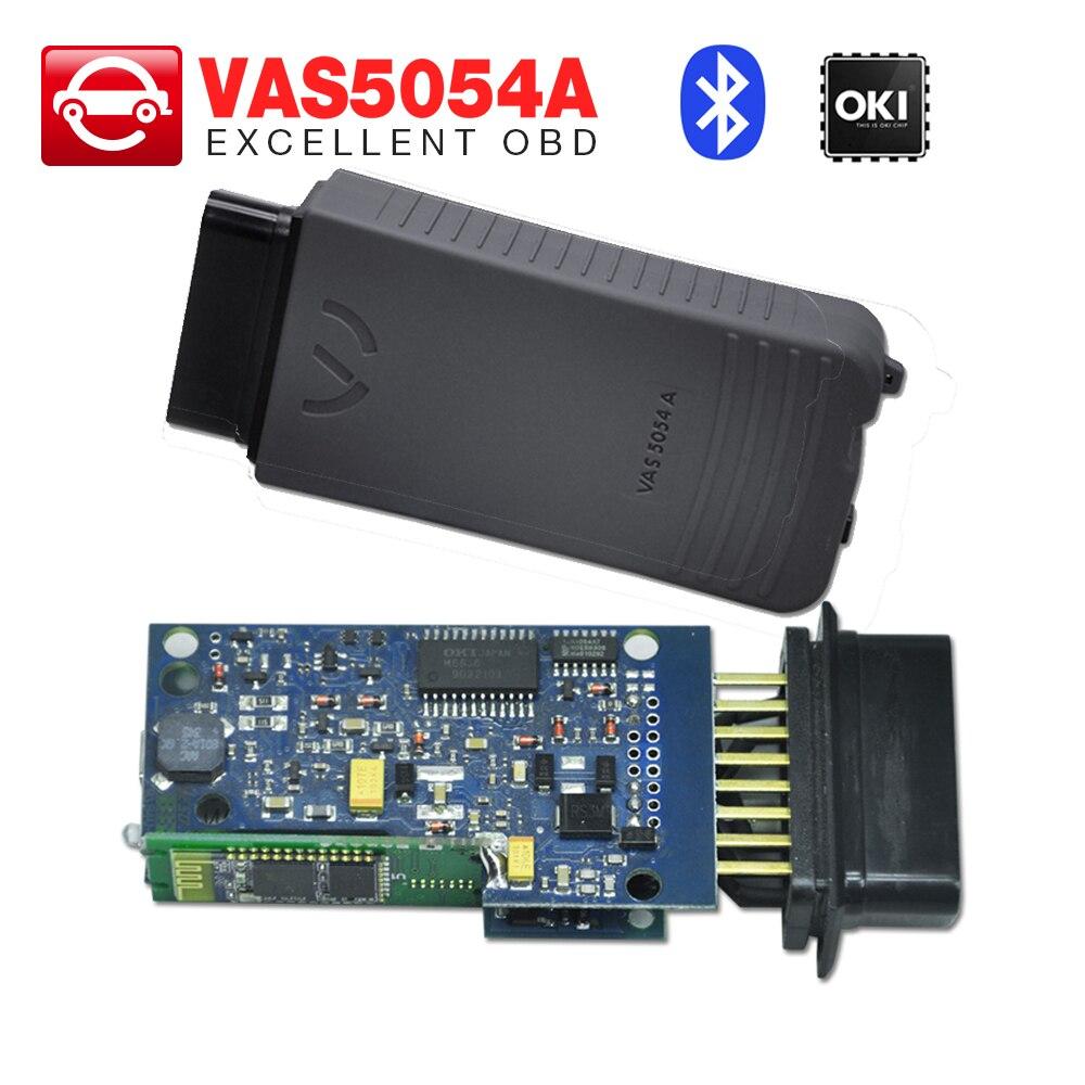 Prix pour VAS5054 Bluetooth avec OKI Puce unité Principale vas 5054a interface de diagnostic vas 5054 Bluetooth unité livraison gratuite