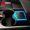 1 шт.  силикагель  автомобильный держатель для ключей  Противоскользящий коврик для Tesla  модель 3  аксессуары для ключей  черный  синий  красны...