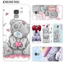 Transparent Soft Silicone Phone Case Me To You Bear For Samsung Galaxy j8 j7 j6 j5 j4 j3 Plus 2018 2017 Prime