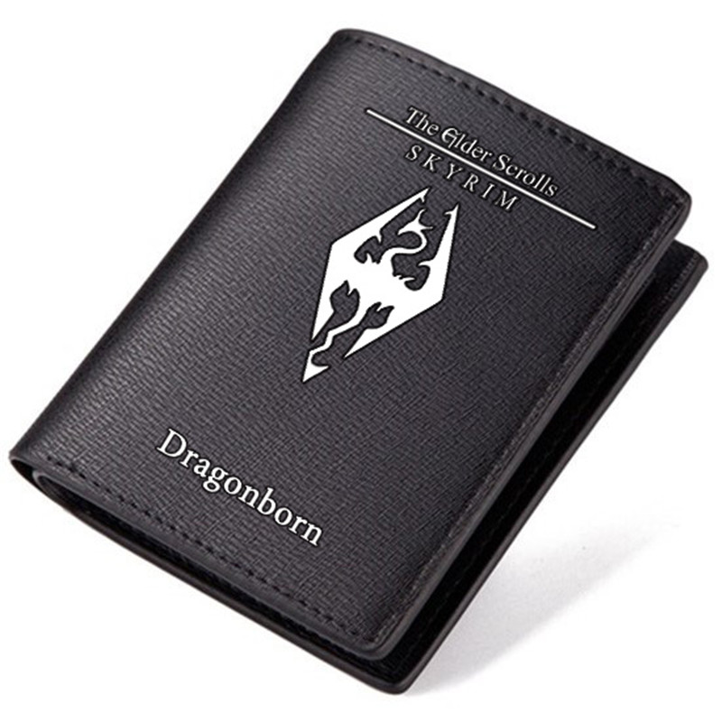 High Quality 2017 New The Elder Scrolls TES Game Printing Men Long Wallet Pu Leather Unisex Short Purse Fashion ID Card Holder