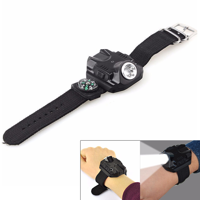<font><b>Q5</b></font> LED <font><b>Watch</b></font> Rechargeable Flashlight Torch USB Charging Waterproof Wrist <font><b>Watch</b></font> Light Tactical Flash Light for Outdoor Sports image