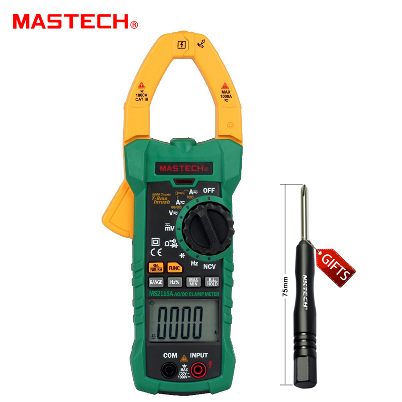 ФОТО MASTECH MS2115A DIGITAL DC/AC CLAMP METERS Voltage Current Resistance Capacitance Tester True RMS