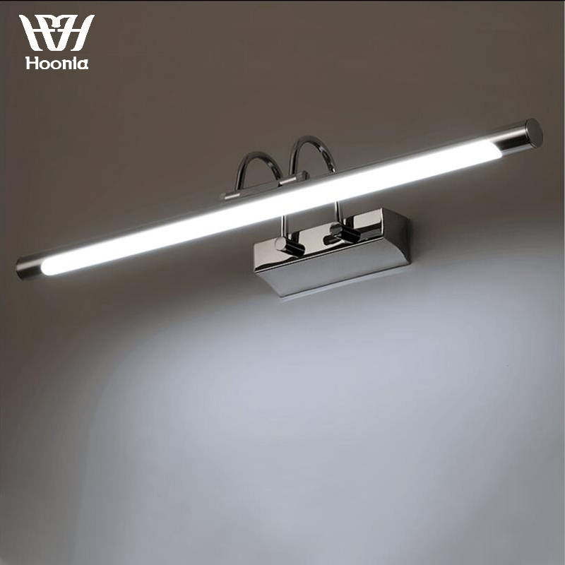 Fashion Bathroom LED Wall Lamp 220V Modern Brief LED Mirror Light Stainless Steel Material LED Wall LightFashion Bathroom LED Wall Lamp 220V Modern Brief LED Mirror Light Stainless Steel Material LED Wall Light