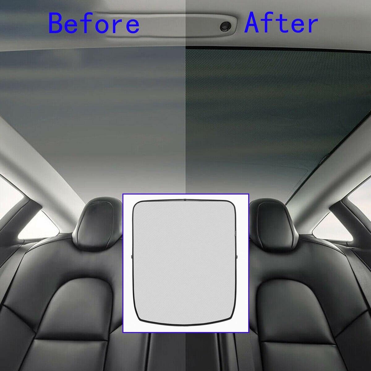 Pour Tesla modèle 3 voiture avant arrière puits de lumière ombrage Net isolation thermique parasol