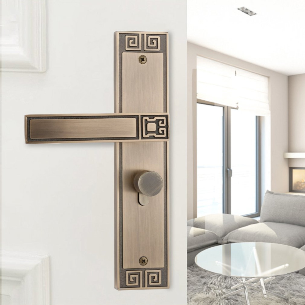 Modern fashion brushed gold Indoor mute door lock bedroom bookroom door lock Sash Security Swing Lock Latch Home Housing Safely