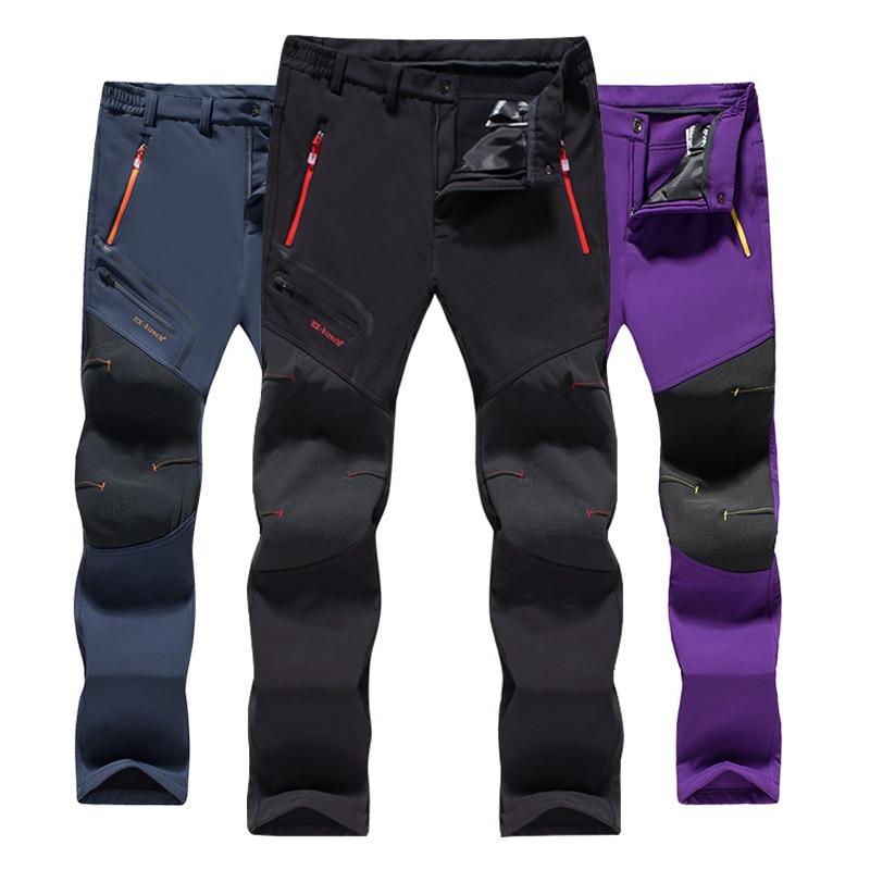 TWTOPSE Winter Men Women Sports Cycling Pants Fleece Water Resistant MTB Road Bicycle Pants Warm Thermal Hiking Bike Trousers Cycling Pants    - title=